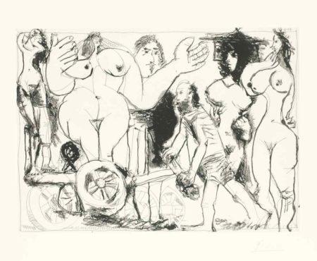 Pablo Picasso-Demenagement, Ou Charrette Revolutionnaire-1968