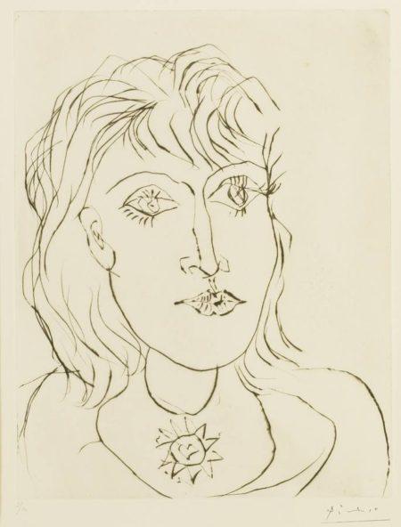 Pablo Picasso-Dora Maar Au Collier-1937