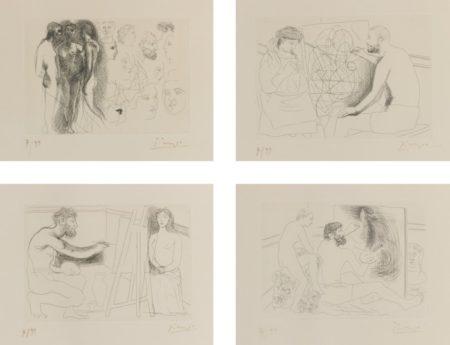 Pablo Picasso-Eaux-Fortes Originales Pour Le Chef-D'Oeuvre Inconnu D'Honore De Balzac-1931
