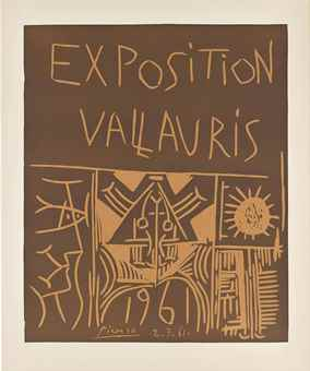 Pablo Picasso-Exposition Vallauris 1961-1961