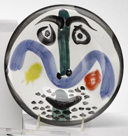 Pablo Picasso-Face no. 130-1963