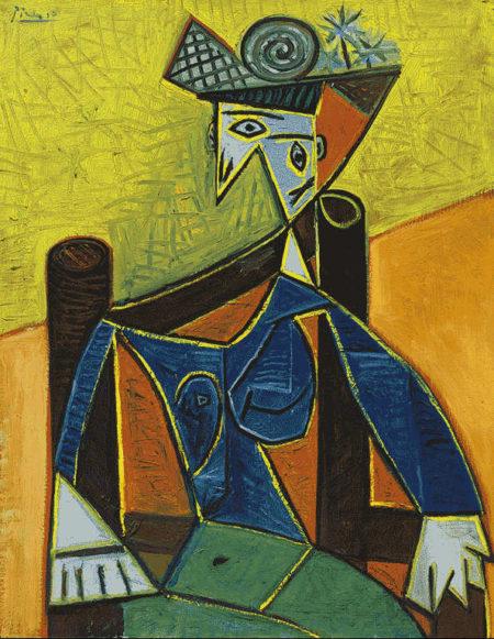Pablo Picasso-Femme assise dans un fauteuil-1941