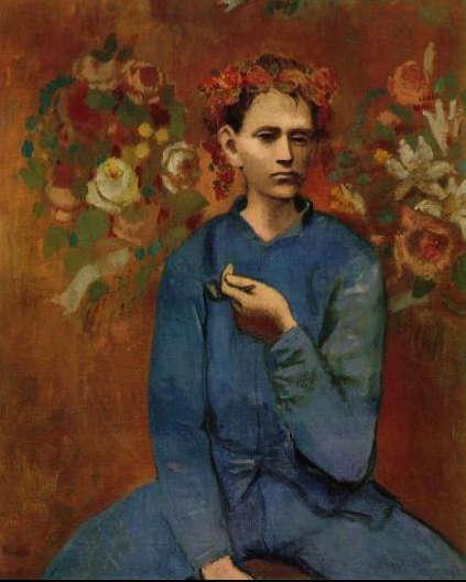 Pablo Picasso-Garçon à la pipe-1905