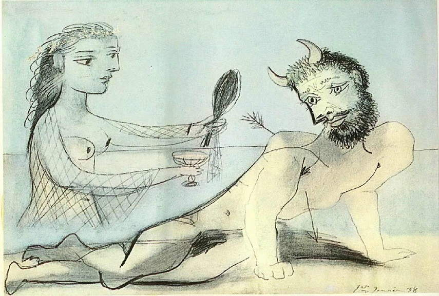 picasso's life design of apple and bulls is like in 1973 bull's museum