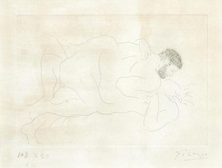 Pablo Picasso-Homme et Femme-1927
