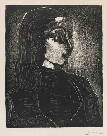 Pablo Picasso-Jacqueline De Portrait A Droite-1958