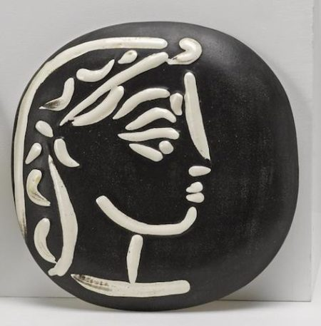 Pablo Picasso-Jacqueline's profile-1956