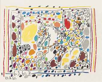 Pablo Picasso-Jaime Sabarte's, A Los Toros, Andre Sauret Editeur, Monte Carlo, 1961-