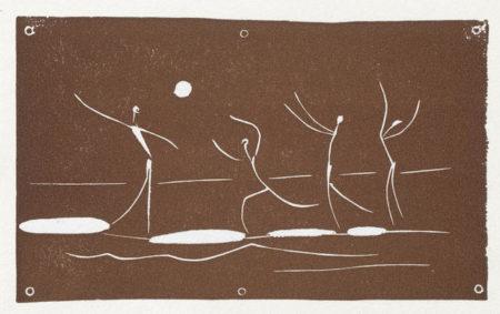 Pablo Picasso-Jeu de Ballon sur une Plage-1957