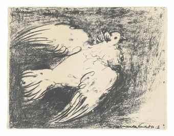 Pablo Picasso-La Colombe en Vol-1950
