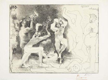 Pablo Picasso-La Danse des Faunes-1957