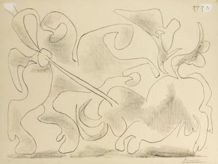 Pablo Picasso-La Pique II-1959