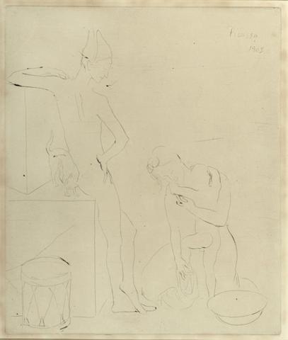 Pablo Picasso-Le Bain pl. XII from La Suite des Saltimbanques-1905