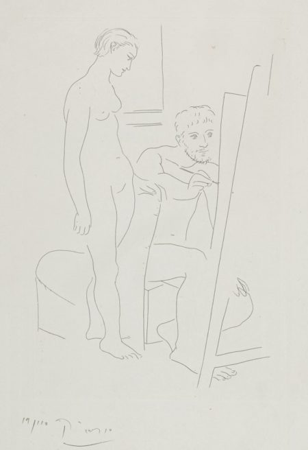 Pablo Picasso-Le Modele Nu-1927