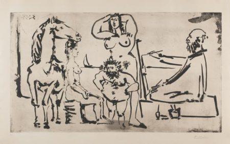 Pablo Picasso-Le Peintre Sur La Plage-1955