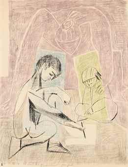 Pablo Picasso-Le Petit Dessinateur-1954