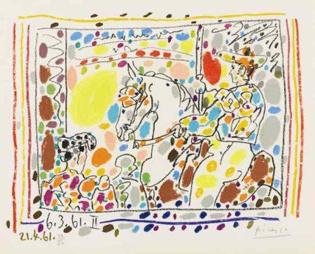 Pablo Picasso-Le Picador II from A Los Toros avec Picasso-1961