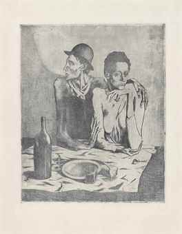Pablo Picasso-Le Repas Frugal, from La Suite des Saltimbanques-1904