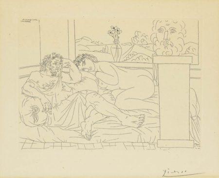 Pablo Picasso-Le Repos Du Sculpteur, IV-1933