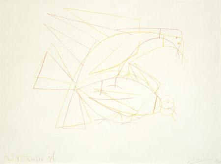 Pablo Picasso-Les Deux Tourterelles Doubles-1946