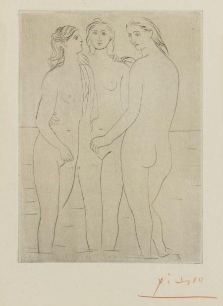 Pablo Picasso-Les Trois Baigneuses. I-1923