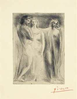 Pablo Picasso-Les trois Femmes-1925