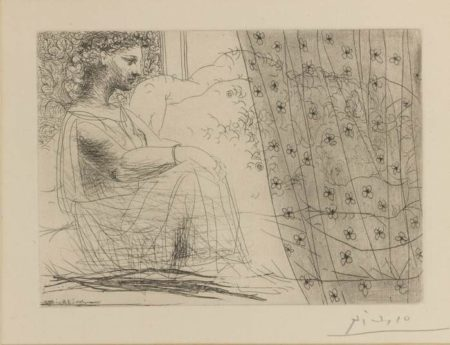 Pablo Picasso-Marie-Therese, En Vestale, Veillant Le Minotaure Endormi-1933