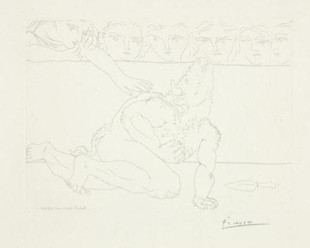 Pablo Picasso-Minotaure Mourant-1933