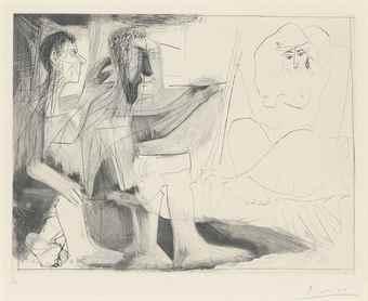 Pablo Picasso-Peintre au travail-1963