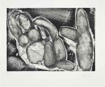 Pablo Picasso-Peintre et modele au fauteuil-1966