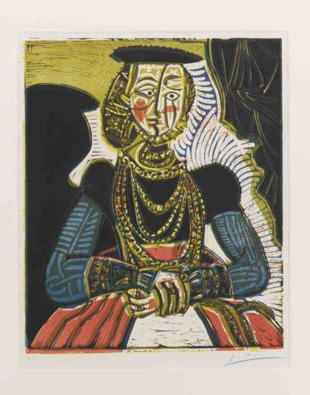 Pablo Picasso-Portrait De Jeune Fille, D'Apres Cranach Le Jeune, II-1958