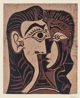 Pablo Picasso-Portrait de Jacqueline de face I-1961