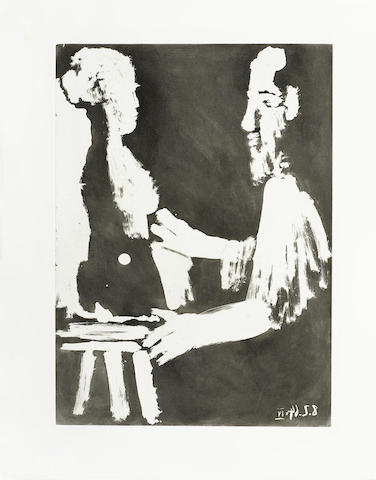 Pablo Picasso-Sable Mauvant-1966