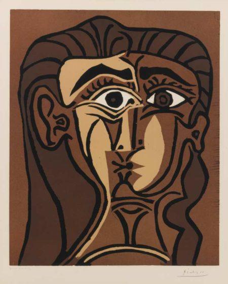 Pablo Picasso-Tete De Femme (Portrait De Jacqueline De Face. II)-1962
