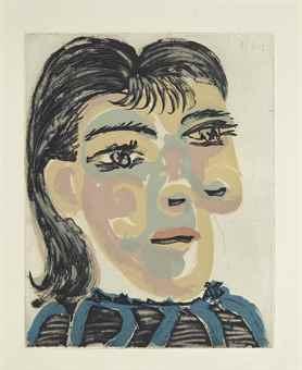 Pablo Picasso-Tete de Femme No. 2: Portrait de Dora Maar-1939