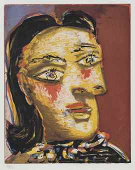 Pablo Picasso-Tete de Femme No. 4. Portrait de Dora Maar-1939