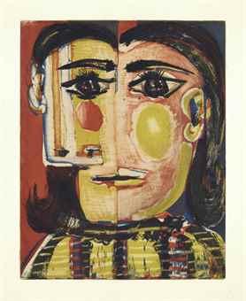 Pablo Picasso-Tete de Femme No. 5: Portrait de Dora Maar-1939