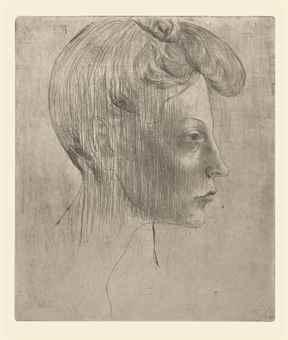 Pablo Picasso-Tete de Femme, de Profil, from La Suite des Saltimbanques-1905