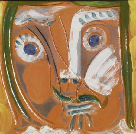Pablo Picasso-Visage De Femme Pomone-1968