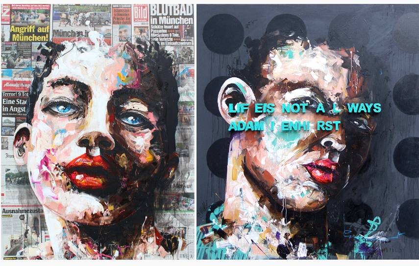 Painter X - Muenchen (left) / Hirst (right)