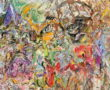 Painting by Larry Poons, detail. Image via pintrest.com