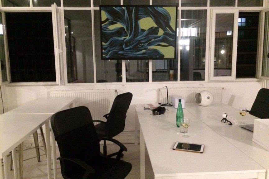 Pantonio - Composition lapins, 2017 Acrylique sur toile 80 cm x 120 cm Peinture N° Inv. INV-029