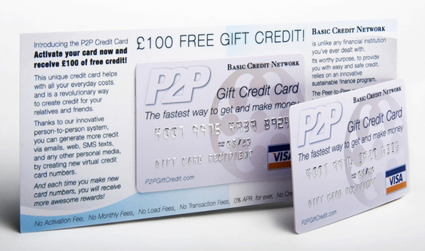 P2P Gift Credit Cards - works