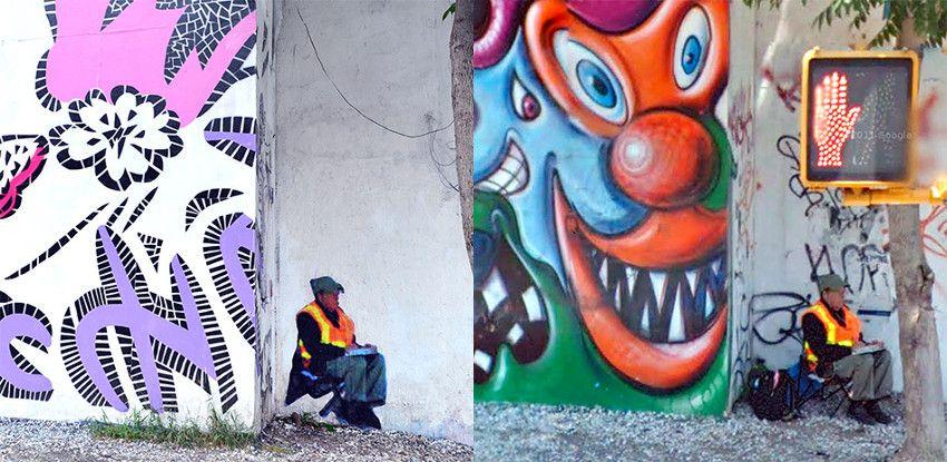 Street Ghosts, 80 East Houston Street, New York - Link Street View from 2011 - press - net