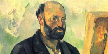Paul Cezanne - Self-Portrait with Palette (detail) - 1890