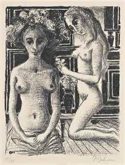 Paul Delvaux-Phryne-1969