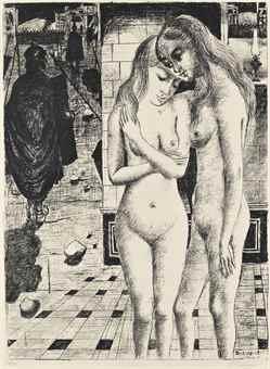 Paul Delvaux-The Captives-1973
