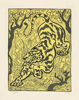 Paul Elie Ranson-Tigre dans les jungles, from L'Estampe originale (First Issue)-1893