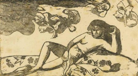 Paul Gauguin-La Femme Aux Mangos - Fatigue-1898
