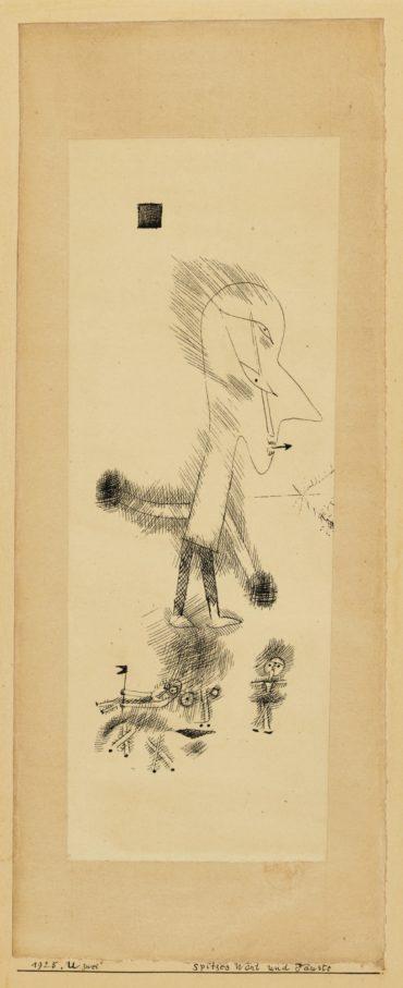 Paul Klee-Spitzes Wort und Fauste-1925